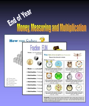 End of Year Money, Measuring and Multiplication