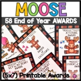End of the Year Class Superlatives Award Certificates Moose Theme