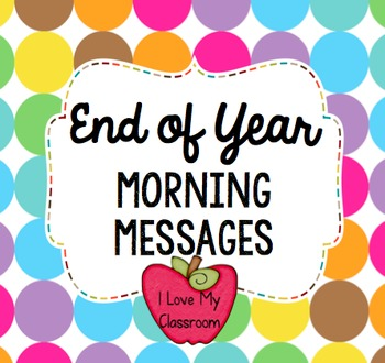 End of Year Morning Messages {Community Building Prompts}