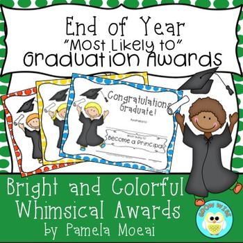 "End of Year Awards ""Most Likely To..."" Graduation with Editable PPT"
