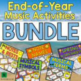 Spring Music Activities & End of Year Music Theory Games BUNDLE