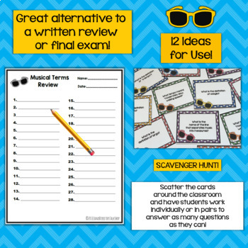 End of Year Music Activities: Music Terms Game