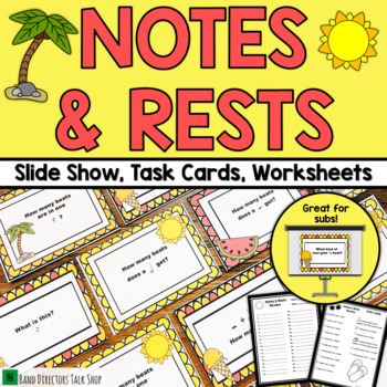 End of Year Music Activities: Notes and Rests Music Game