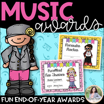 music awards elementary editable add students names by melody