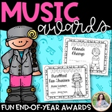 Music Awards {Elementary, Editable, BW, Add Students' Names!}