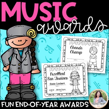 Music Awards {Elementary, Editable, BW, Add Students' Names!}