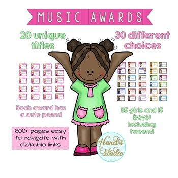 End of Year Music Awards with poems