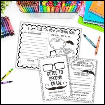 End-of-Year Mustache Writing Activity to Future Students
