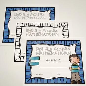 End of Year Math Mathematician Awards