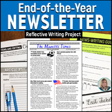 End of Year Newsletter – Writing Project with EDITABLE Newsletter Template 5 - 8