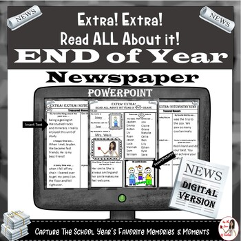 End of Year Newspaper: POWERPOINT
