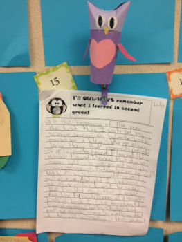 End of Year OWL writing