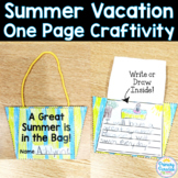 End of Year One Page Craftivity: Summer Beach Bag