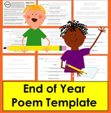 End of the Year Activities: Poetry Writing - Easy Template