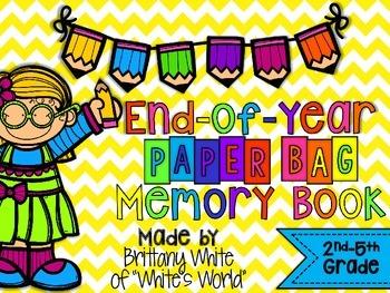 End-of-Year Paper Bag Memory Book