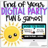 End of Year Party Digital Summer Games