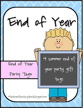 End of Year Party Tags