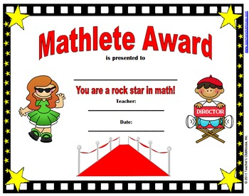 End of Year Party/Celebration Awards (Certificates)