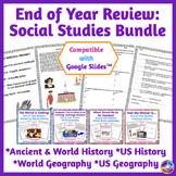 End of Year Social Studies Persuasive Writing BUNDLE