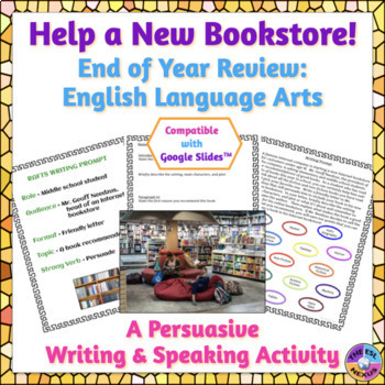 End of Year English and English Language Arts Persuasive Writing Activity