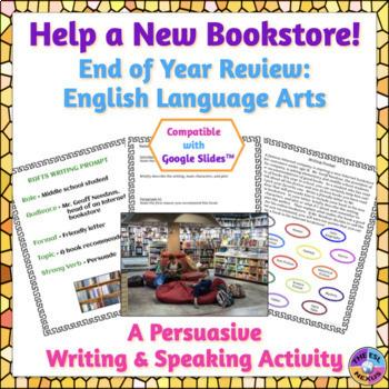 End of Year English and English Language Arts Persuasive Writing Activity
