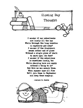 End of Year Poem: Closing Day Thought