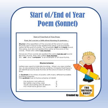 End of Year Poem (Sonnet Format)
