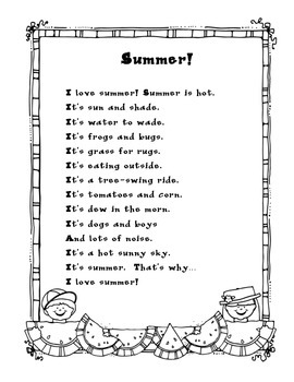 End of Year Poem: Summer!