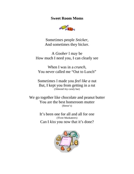 End of Year Poem for Room Moms