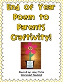End of Year Poem to Parents Craftivity