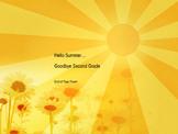 End of Year Poetry: Hello Summer Goodbye School
