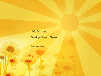 End of Year Poetry: Hello Summer Goodbye School