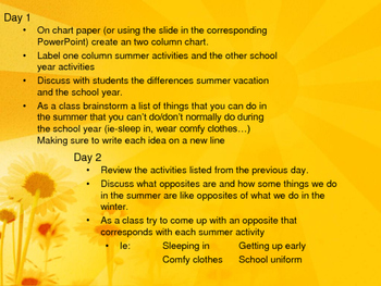 End of Year Poetry: Hello Summer Goodbye School-Lesson