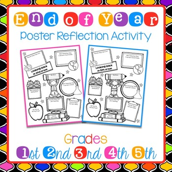 FREEBIE End of Year Posters for Student Self-Reflection