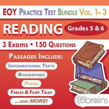 End of Year Practice Test BUNDLE: Reading Grades 5 & 6