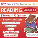Test Prep - End of Year Practice Test BUNDLE: Reading Grades 5 & 6