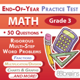 Test Prep - End of Year Practice Test: Math Grade 3