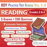 Test Prep - End of Year Practice Test BUNDLE: Reading Grades 3 & 4