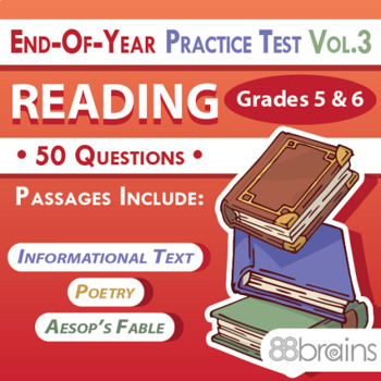 Practice tests for reading teaching resources teachers pay teachers 3 end of year practice test reading grades 5 6 vol fandeluxe Image collections