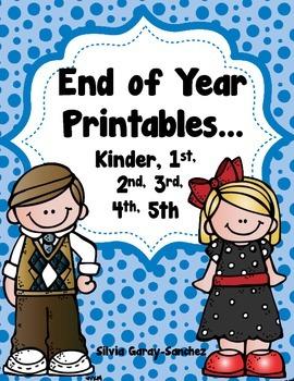 End of Year Printables: K-5