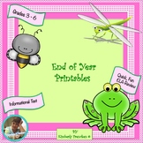 End of Year Printables: Quick Review of Informational Text
