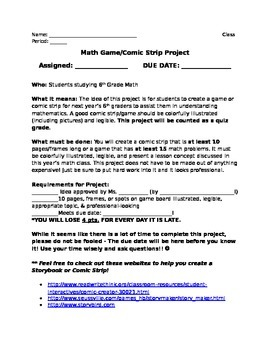 End-of-Year Math Project