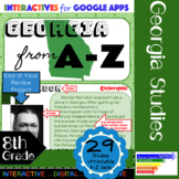 End of Year Project of Georgia from A-Z: Interactive for Google Slides