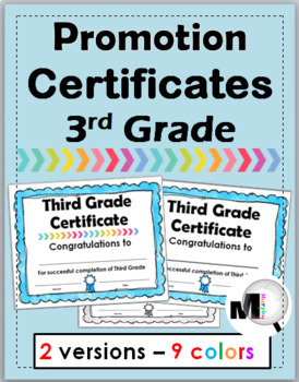 end of year awards promotion certificates grade 3 by marcia murphy