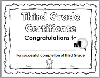 End of Year Awards - Promotion Certificates – Grade 3