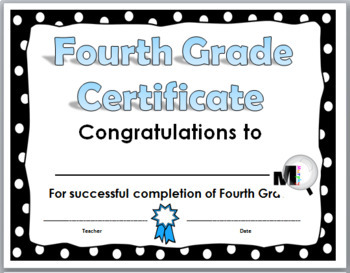 End of the Year Awards (Promotion Certificates for Grades 4, 5, 6)