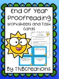 End of Year Proofreading Worksheets and Task Cards