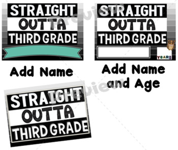 End of Year Props ~ Straight Outta Third Grade