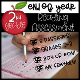 End of Year Reading ELA Assessment for 2nd-3rd grade