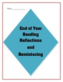 End of Year Reading Reflections and Reminiscing for Upper Grades